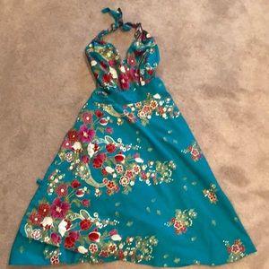 Dresses & Skirts - Stunning teal halter wrap dress